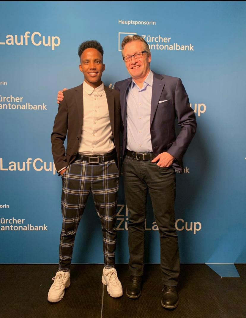 Juniorensieger 2019 Züri Lauf Cup mit Coach
